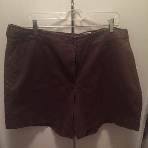 Talbots Brown Cotton Shorts